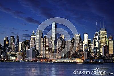 惊人的查看约克的城市曼哈顿新的newyork