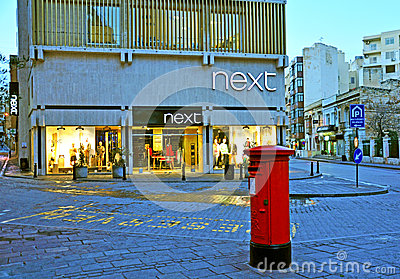 Next flagship store in Malta Editorial Image