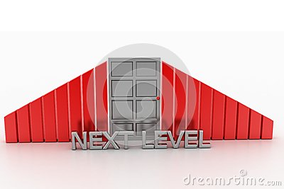 Next Level with closed door