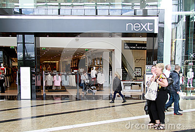Next shop in a mall Editorial Photography