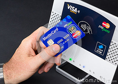 Nfc- contactless payment Editorial Stock Image