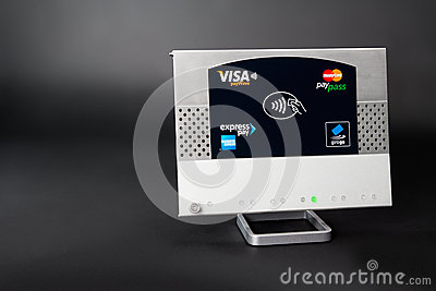 NFC - contactless payment Editorial Stock Photo