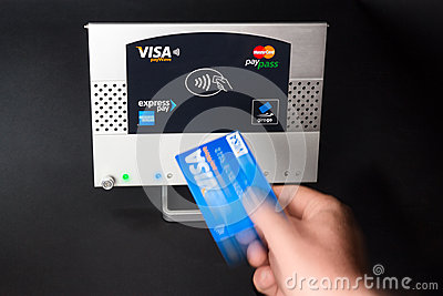 NFC - contactless payment Editorial Photography