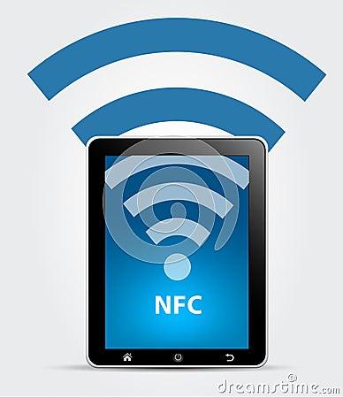 NFC Near Field Communication Concept