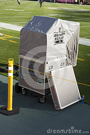 NFL American Football Instant Replay Booth Editorial Photo