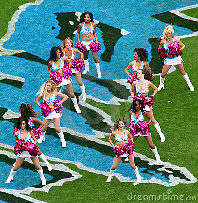 NFL - Cheerleaders! Editorial Stock Photo