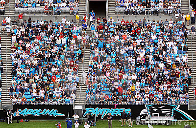 NFL - colorful fans - a sea of blue Editorial Photography
