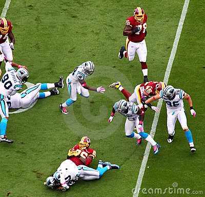 NFL - end of a play Editorial Stock Image