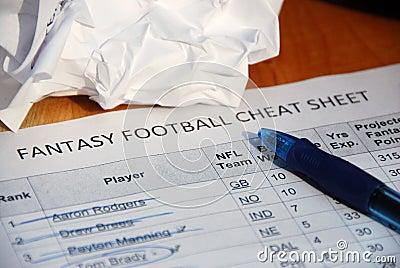 NFL fantasy football draft cheat sheet