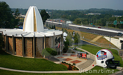 NFL Football Hall of Fame in Canton, Ohio Editorial Photo