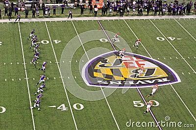 NFL Football Kickoff Editorial Stock Photo