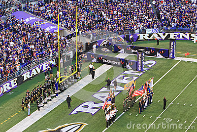 NFL Football Pre Game Festivities Editorial Photography