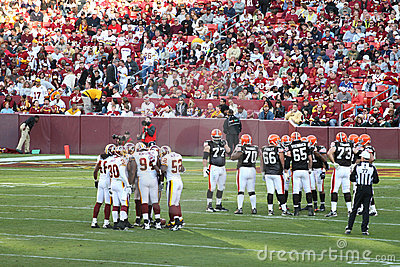 NFL Football: Redskins v. Browns Editorial Photo