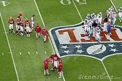 NFL - injury timeout Editorial Image