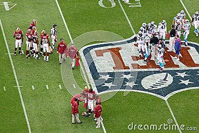 NFL - injury timeout Editorial Image