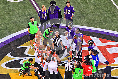 NFL Monday Night Football Coin Toss Editorial Image