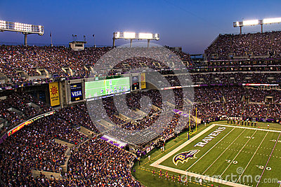 NFL - Night Football in Baltimore Editorial Stock Image