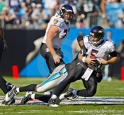 NFL:  Nov 21 Baltimore Ravens Vs Carolina Panthers Editorial Stock Photo