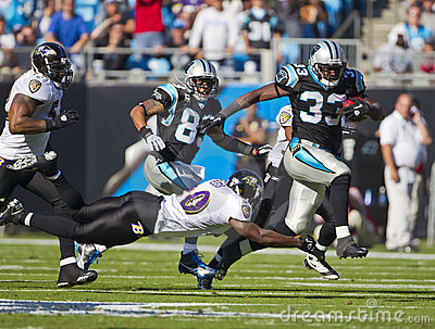 NFL:  Nov 21 Baltimore Ravens Vs Carolina Panthers Editorial Image