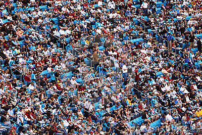 NFL - a sea of colorful fans Editorial Stock Photo