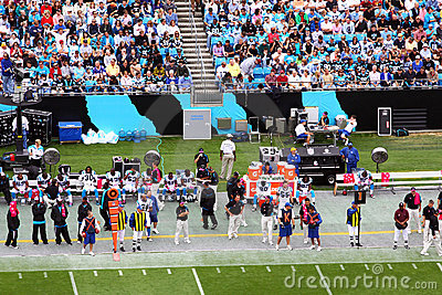 NFL - sideline and fans in the stands Editorial Stock Image