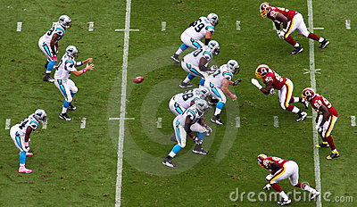 NFL - Snap to the Quartback! Editorial Stock Image