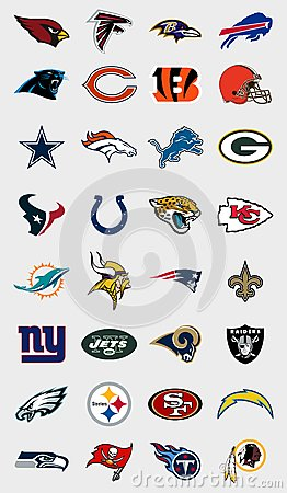 Free NFL Teams Logos Royalty Free Stock Photo - 78151095