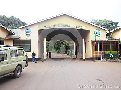 Ngorongoro gate Editorial Stock Photo