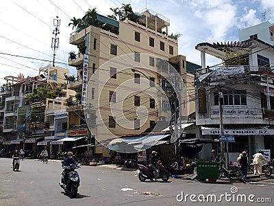 Nha Trang street Editorial Stock Photo