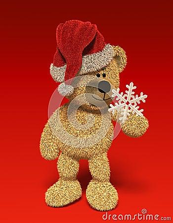 Nhi Bear with snow-flake