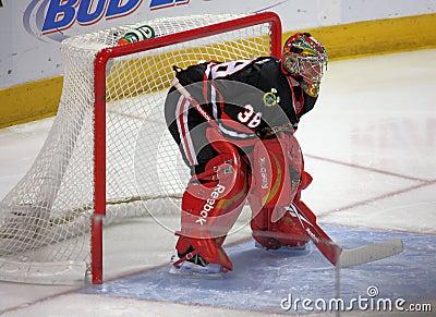 NHL Chicago Black Hawks Goalie Editorial Image
