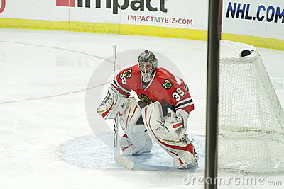 NHL Chicago Blackhawk Goalie Editorial Stock Image