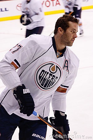 NHL forward Dustin Penner of the Edmonton Oilers Editorial Stock Photo