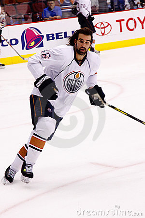 NHL forward Zack Stortini of the Edmonton Oilers Editorial Photo