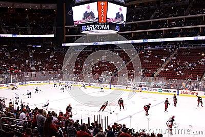 NHL Hockey - Edmonton Oilers & Phoenix Coyotes Editorial Stock Image
