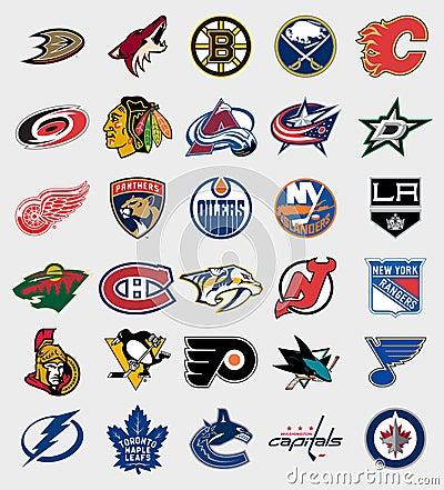 Free NHL Teams Logos Stock Photography - 79359962