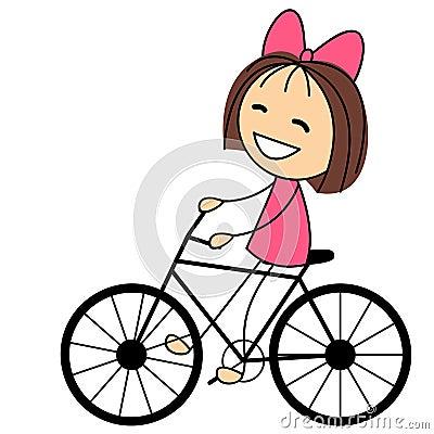 Resultado de imagen para niña en bicicleta