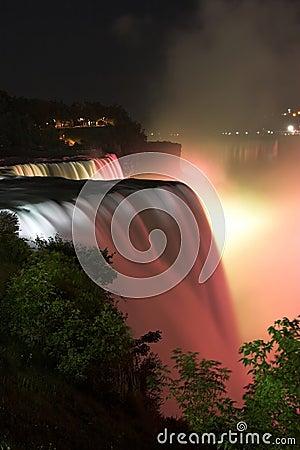 Free Niagara Falls By Night Royalty Free Stock Images - 1225609