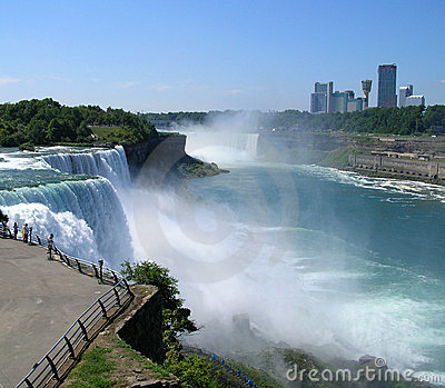 Niagara Falls with Canada in background