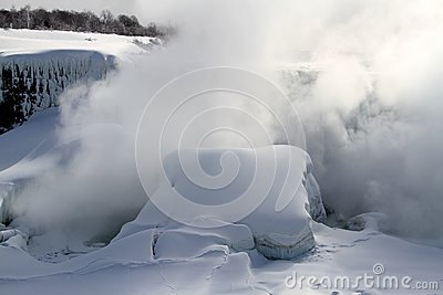 Niagara Falls mist in winter season