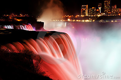 Niagara Falls at night