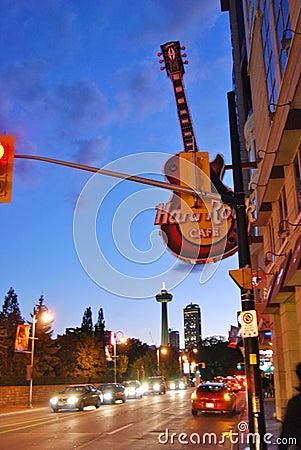 Famous Clifton Hills Street area at Niagara Falls , Canada Editorial Photo