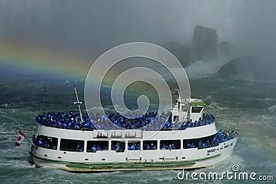 Niagara Falls Rainbow Editorial Image