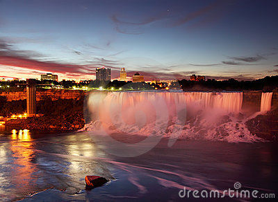 Niagara Falls USA just Before Sunrise