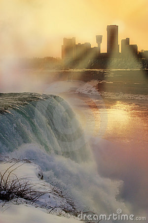 Free Niagara Falls - Winter Sunset Royalty Free Stock Photo - 78755