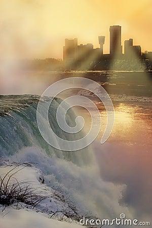 Niagara Falls - Winter Sunset