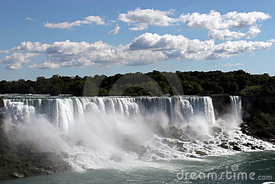 Niagra falls with blue sky
