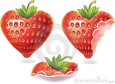 Nibbled strawberry