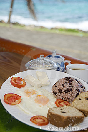 Nicaragua breakfast typical