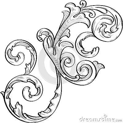 Nice acanthus swirl